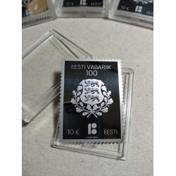 2018 Estonia Francobollo in argento Unusual Stamp