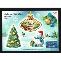 2017 Estonia Natale foglietto alla Cannella Unusual