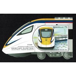 2018 Malesia Treni Elettrici foglietto Unusual