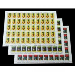 1976 18° Giornata del francobollo serie Fogli mai piegati