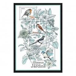 2018 Francia Uccelli dei giardini foglietto MNH/**