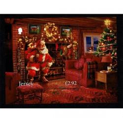 2016 Jersey Tematica Natale foglietto Babbo Natale MNH/**