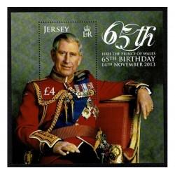 2013 Jersey Complenno Carlo d'Inghilterra foglietto MNH/**