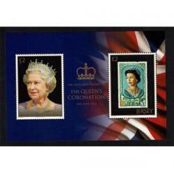 2013 Jersey 60° anniversario regina Elisabetta foglietto MNH/**