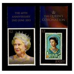 2013 Jersey 60° anniversario regina Elisabetta serie MNH/**
