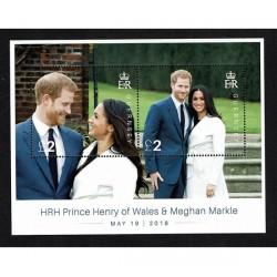 2018 Guernsey royal wedding Meghan e Harry foglietto