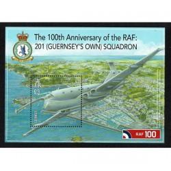 2018 Guernsey RAF Royal Air Force foglietto MNH/**