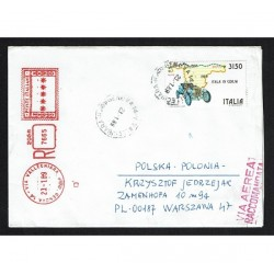 1989 Parigi-Pechino isolato su Raccomandata per Polonia