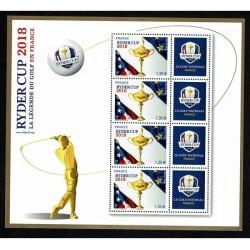 2018 Francia Ryder Cup Golf minifoglio MNH/**