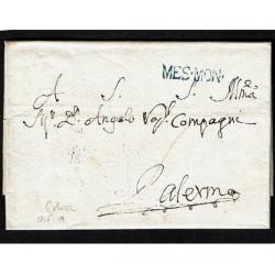 1815 Prefilatelica da Polizzi a Palermo Messina Montagne (Mes.Mon.)