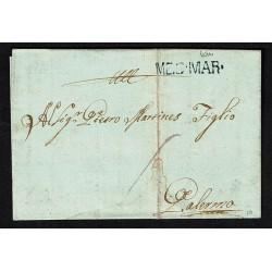 1815 Prefilatelica da Cefalù a Palermo MES.MAR con testo