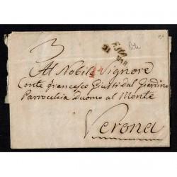 1849 Prefilatelica da Este per Verona con testo