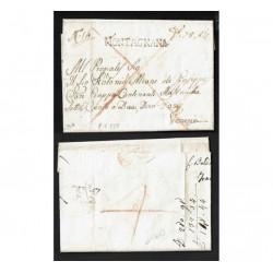 1829 Prefilatelica da Montagnana a Venezia con testo