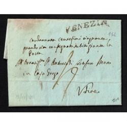 1811 Prefilatelica da Venezia a Udine con testo