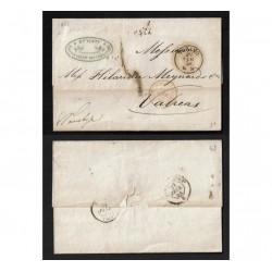 1858 Prefilatelica da Torino a Valreas in Francia