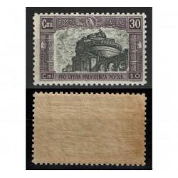 1928 Pro Opera Milizia 2° emissione 30c+10c Sas.220 MNH/**