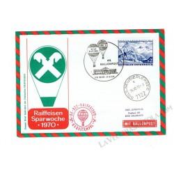 1970 Ballonpost n.44 Mongolfiera OE-DZC da Vienna