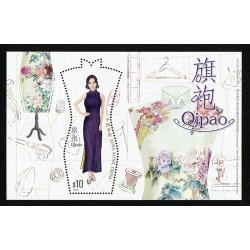 2017 Hong Kong Qipao abito tradizionale foglietto MNH/**