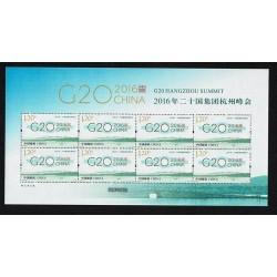 2016 Cina G20 Hangzhou Summit minifoglio in seta Unusual