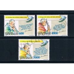 1993 - Viaggi di Giovanni Paolo II nel 1992 - MNH/**
