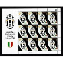 2015 San Marino Minifoglio Juventus Campione d'Italia