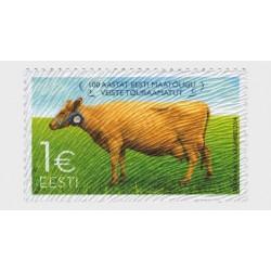 2014 Estonia Bovini Unusual stamps floccato MNH/**
