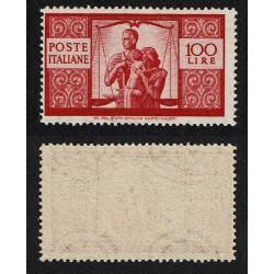 1945 Repubblica 100Lire Democratica Sas.565 nuovo MNH/**