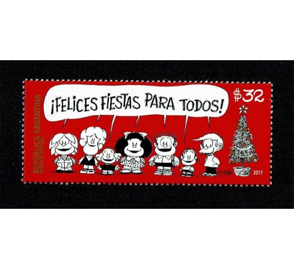 Immagini Di Mafalda A Natale.Francobolli 2017 Argentina Auguri Di Natale Mafalda Unusual Braille
