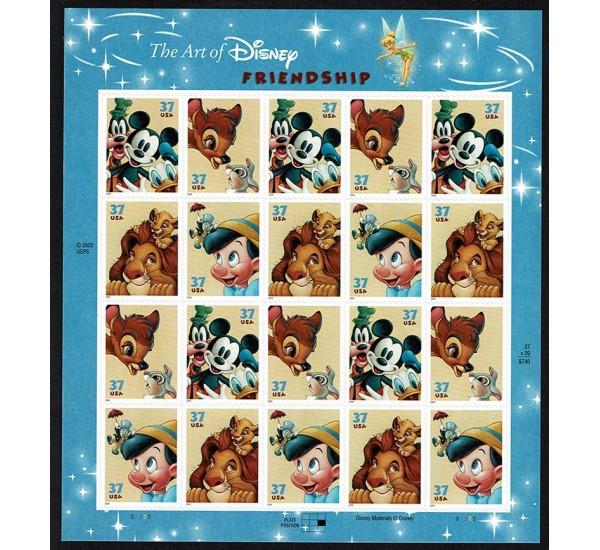 2004 USA Personaggi Disney minifoglio MNH/**