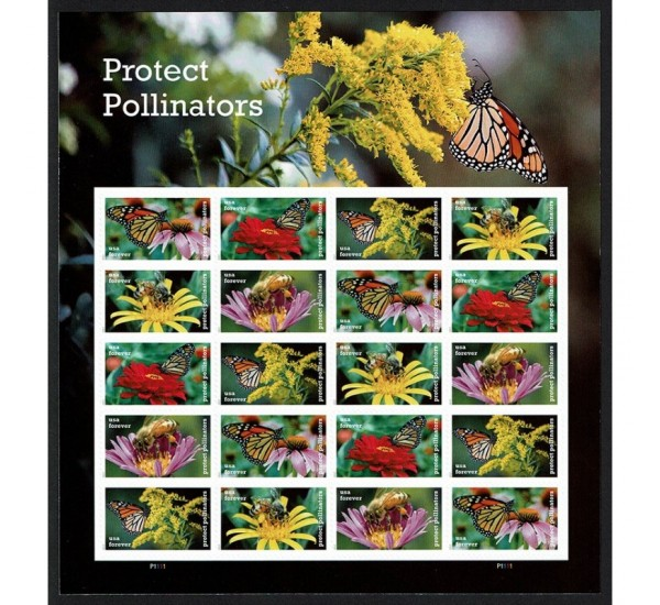 2017 USA Impollinatori protetti farfalle, api minifoglio MNH/**