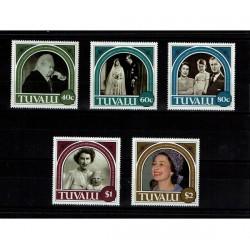 1987 Tuvalu 40° Royal Wedding Regina Elisabetta