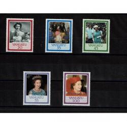 1987 Vanuatu 40° Royal Wedding Regina Elisabetta
