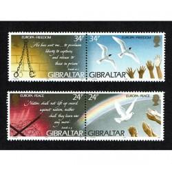 1995 Gibilterra serie Europa MNH/**