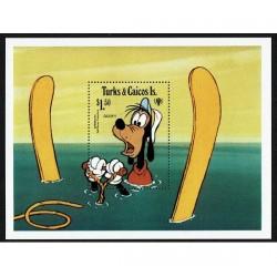 1979 Turks e Caicos foglietto Disney Pippo MNH