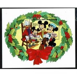 1982 Turks e Caicos foglietto Disney Natale MNH