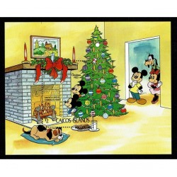 1983 Caicos foglietto Disney foglietto Natale