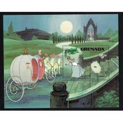1981 Grenada Disney foglietto Cenerentola Natale