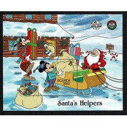1988 Uganda Disney Santa's Helpers - Natale