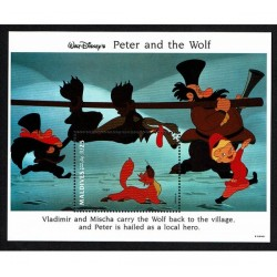 1993 Maldive Disney Peter and the Wolf