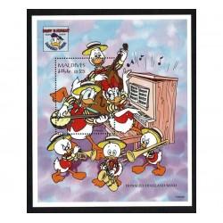 1995 Maldive Disney 60° di Paperino Donald Duck