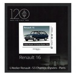 2018 Francia Renault 16 tessera da collezione