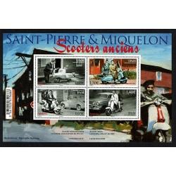2018 Saint Pierre et Miquelon SP&M vecchi scooter foglietto MNH/**