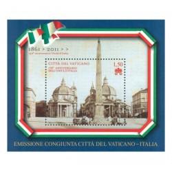2011 Vaticano 150° Unità d'Italia emissione congiunta Italia