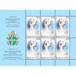 2011 Vaticano Beatificazione di papa Giovanni Paolo II MNH