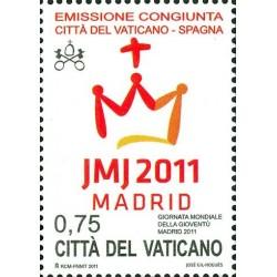 2011 Vaticano giornata mondiale gioventù MNH