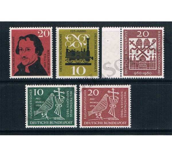 1960 - Germania lotto 5 francobolli MNH/**