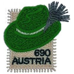 2018 Austria Styrian hat Cappello Stiriano ricamato unusual stamps
