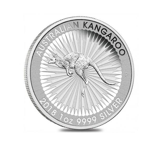 2018 Australian KANGAROO - 1 Oz Argento 999