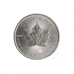 2018 Canada MAPLE LEAF - 1 OZ Argento/Silver 999 1$