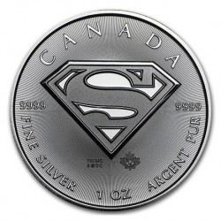 2016 Canada MAPLE LEAF SUPERMAN - 1 OZ Argento/Silver 999 5$